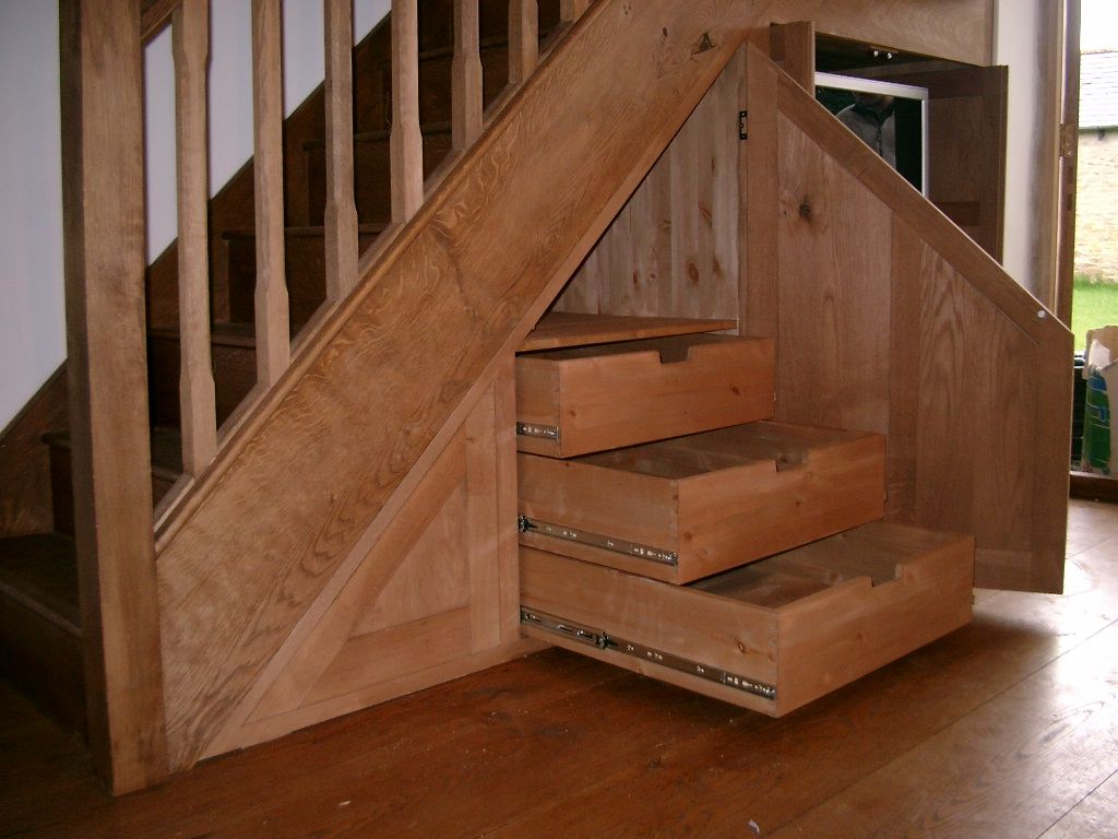 Representation of cupboard under the stairs arrangement for Under the stairs cabinet
