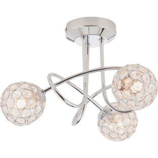 Living Temsia Beaded Globes Ceiling Light From Homebasecouk Bedroom Idea
