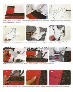 Artesanato e Cia : Bolsa em patchwork com patchcolagem - passo a passo