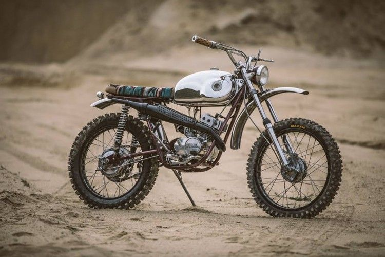 Hodaka ace scrambler by chris tope scrambler cool bikes