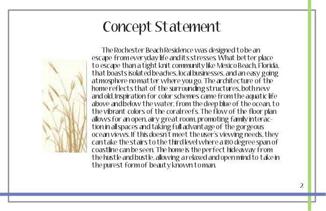 Architecture Design Architecture Design Concept Statement Concept Statement Freestyle Life