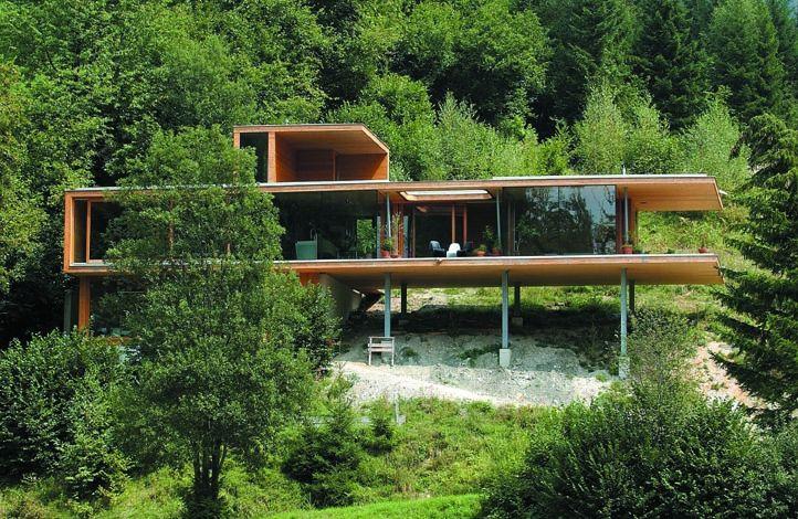 Photos KLH Maison Pinterest Maison, Maison bois et Architecture - Plan Maison Bois Sur Pilotis