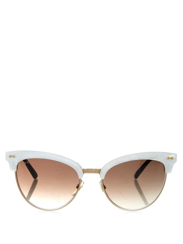 Gucci Cat-eye half-frame sunglasses | s h o p | Pinterest | Cat eyes ...