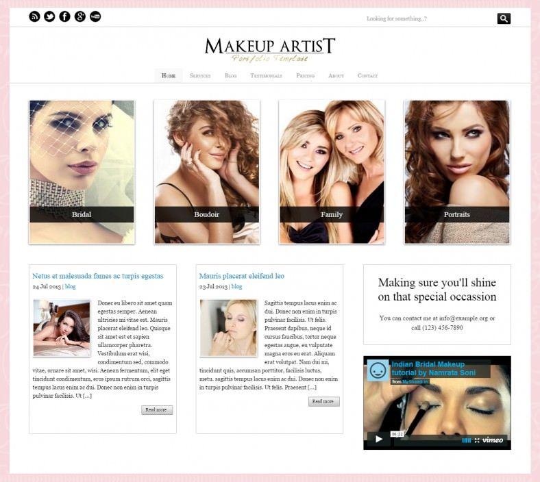 15 Make Up Artists WordPress Themes Templates