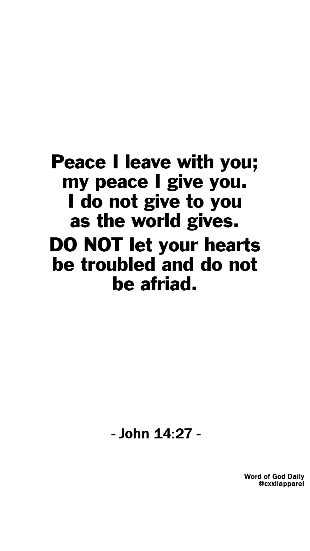 The Peace of Jesus is Real, Do not let your hearts be troubled.