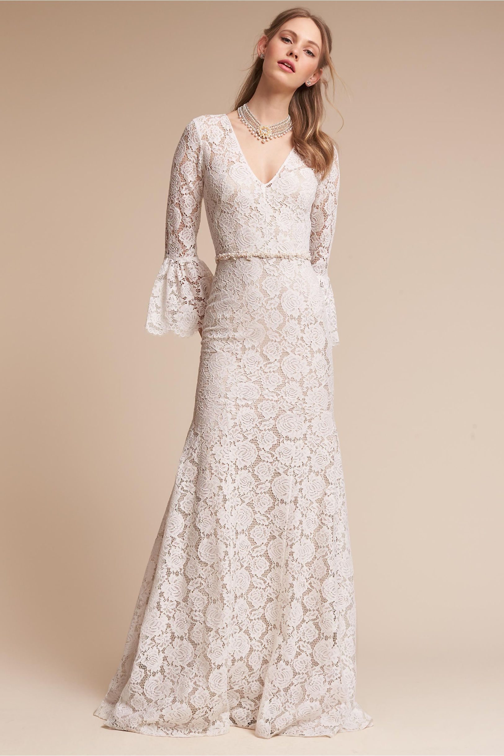 Update Bestselling Lace Dress Bhldn Ivory Champagne Harbor Gown In