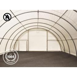 Photo of Round arch hall 9.15x10m PVC 720 g / m2 white waterproof Zelthalle, Industrial tent, Agrarzelt ToolportTo