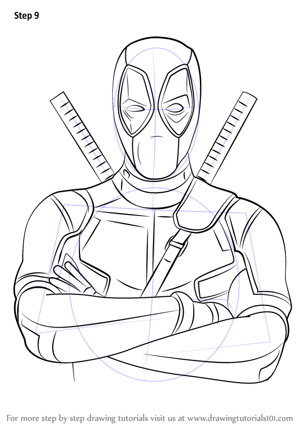 Learn How to Draw Deadpool (Deadpool) Step by Step : Drawing ...