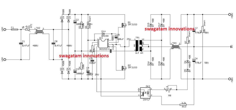 350 watt smps circuit for audio amplifiers