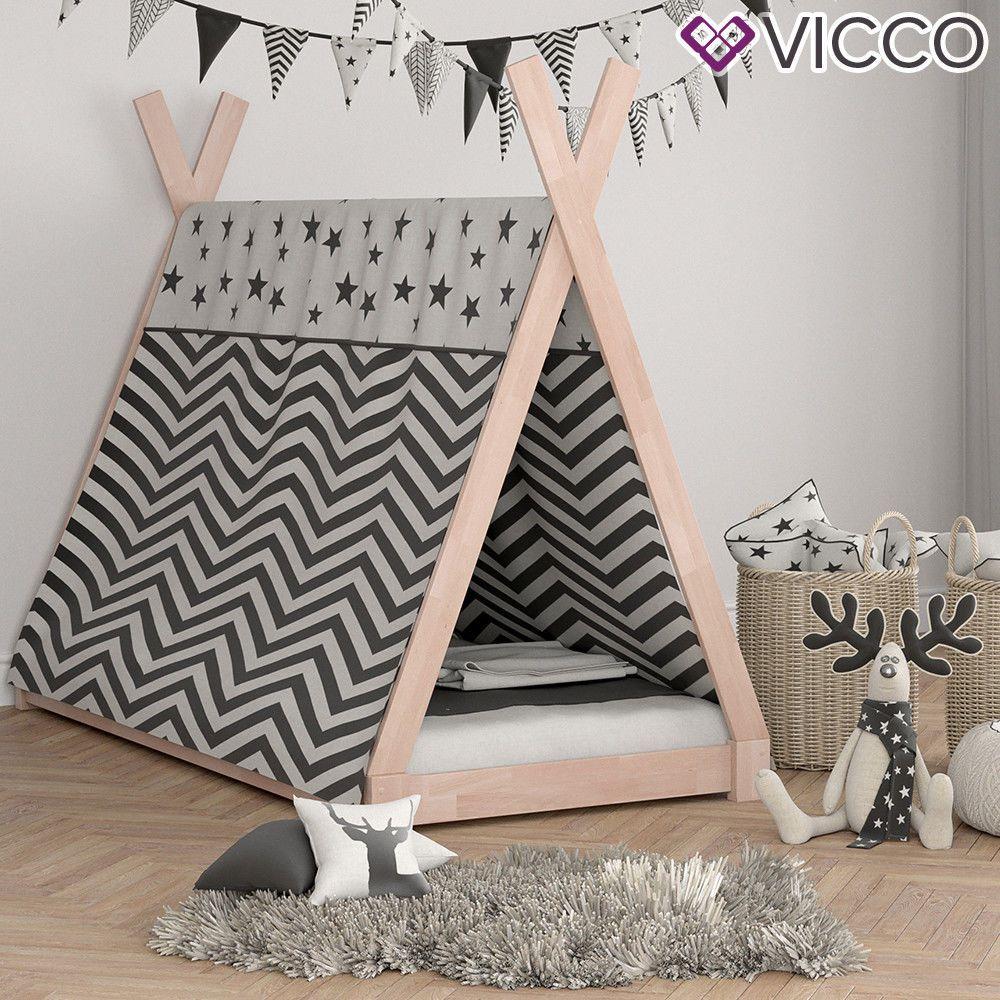 Hausbett Im Tipi Style Fur Kleine Entdecker Nordic Nordicstyle Kinderzimmer Kinderbett Bettzelt Kinderbett Tipi Bett Ideen