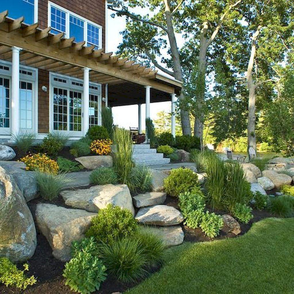 70 Gorgeous Front Yard Rock Garden Landscaping Ideas ...