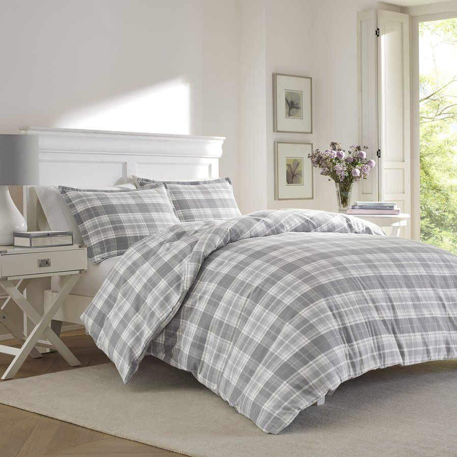 Nice Dress Your Bed In Casual Style With The Mulholland Plaid Flannel Duvet Cover  Set ...