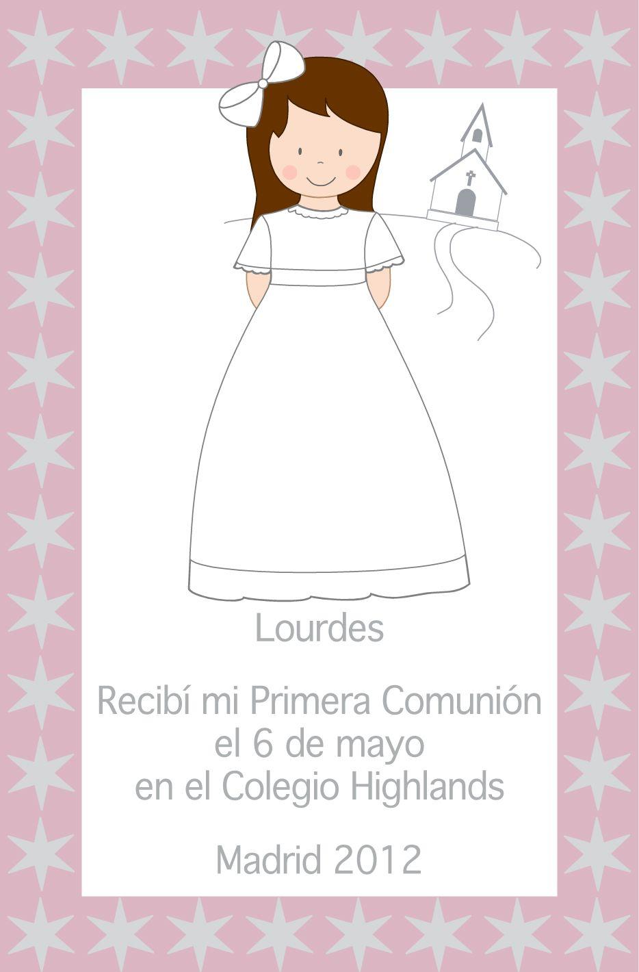 Primera comunion invitaciones templates - Invitaciones comunion busquets ...