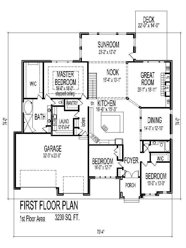 3 Bedroom 2 Bath 2 Car Garage Floor Plans Bungalow House Floor