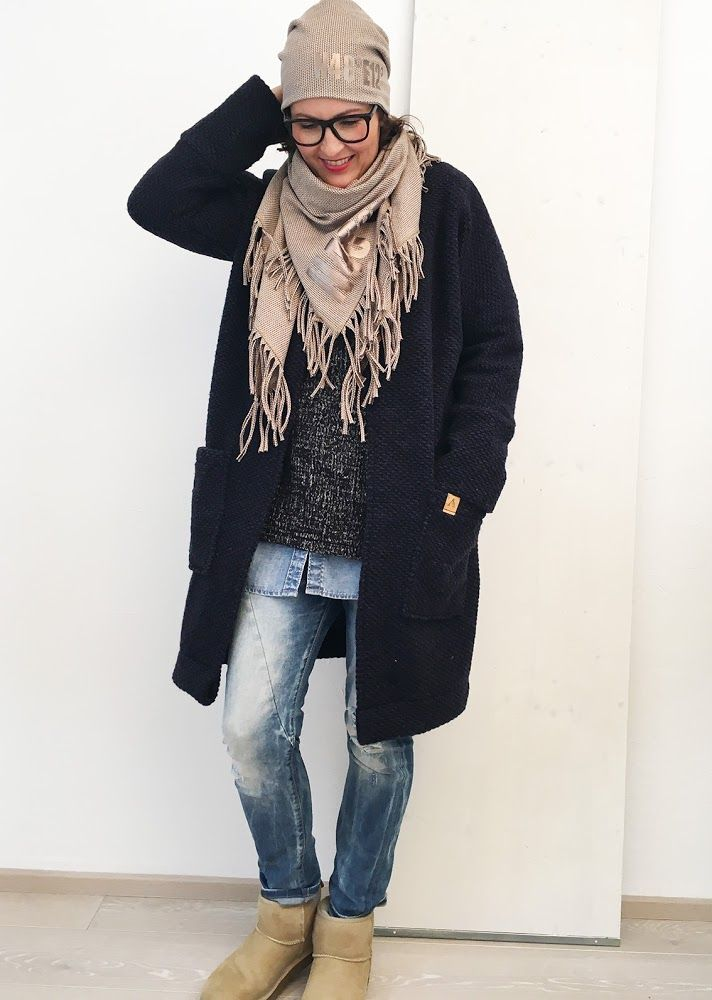 Wollstoffanlukaa's Ava Frau Mantel Blog Dunkelblauem Aus 13FKJTlc