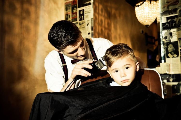 Gladstone Grooming- One of our youngest doing a top job of the modelling