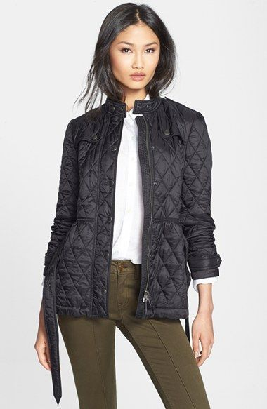 Burberry Brit Starkford Belted Quilted Jacket Nordstrom Quilted Jacket Burberry Quilted Jacket Jackets