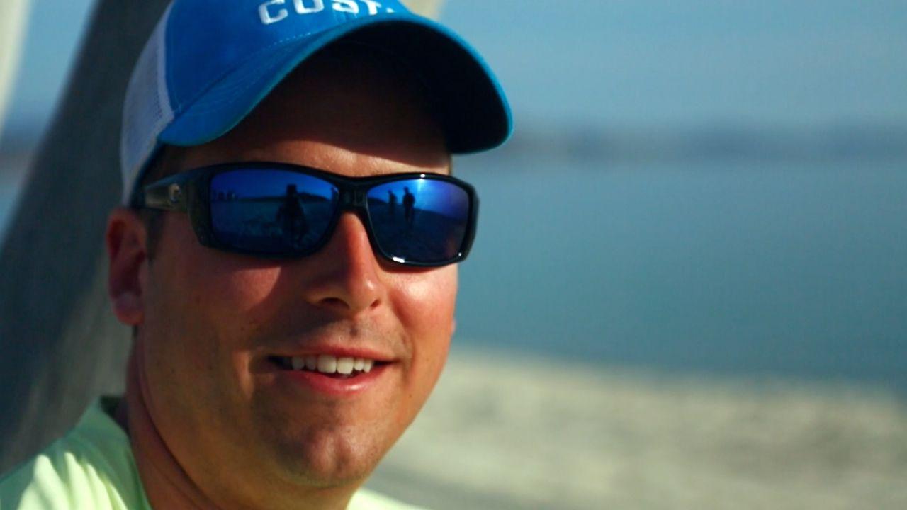 cf9025ca0b Cat Cay with Blue Mirror Lens   Shiny Black Frame Costa Sunglasses