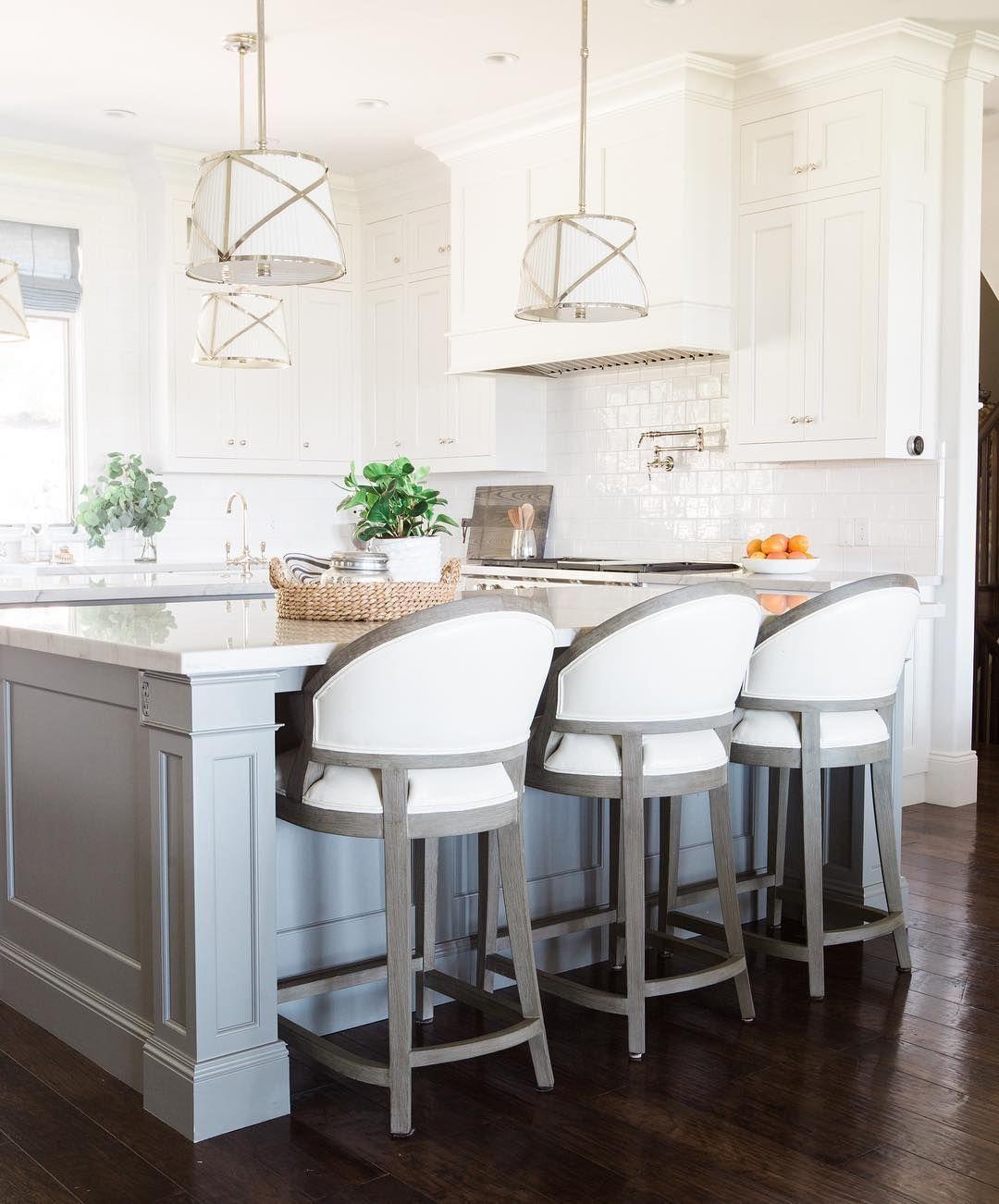 Gray Kitchen Island  Wwwstudiomcgee  Kitchen  Pinterest Cool Kitchen Island Chairs Review