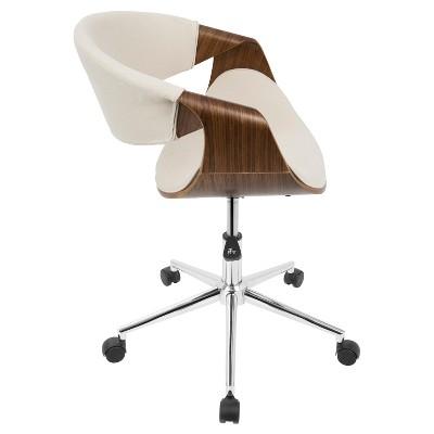 Curvo Mid Century Modern Office Chair Walnut And Cream Lumisource Modern Office Chair Mid Century Modern Office Chair Mid Century Modern Office