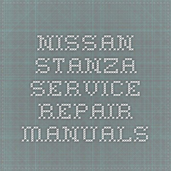 Nissan Stanza Service Repair Manuals Repair Manuals Nissan Juke Nissan