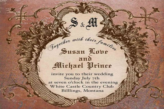 wedding invitation for you to print Vintage by CupidDesigns, $20.00