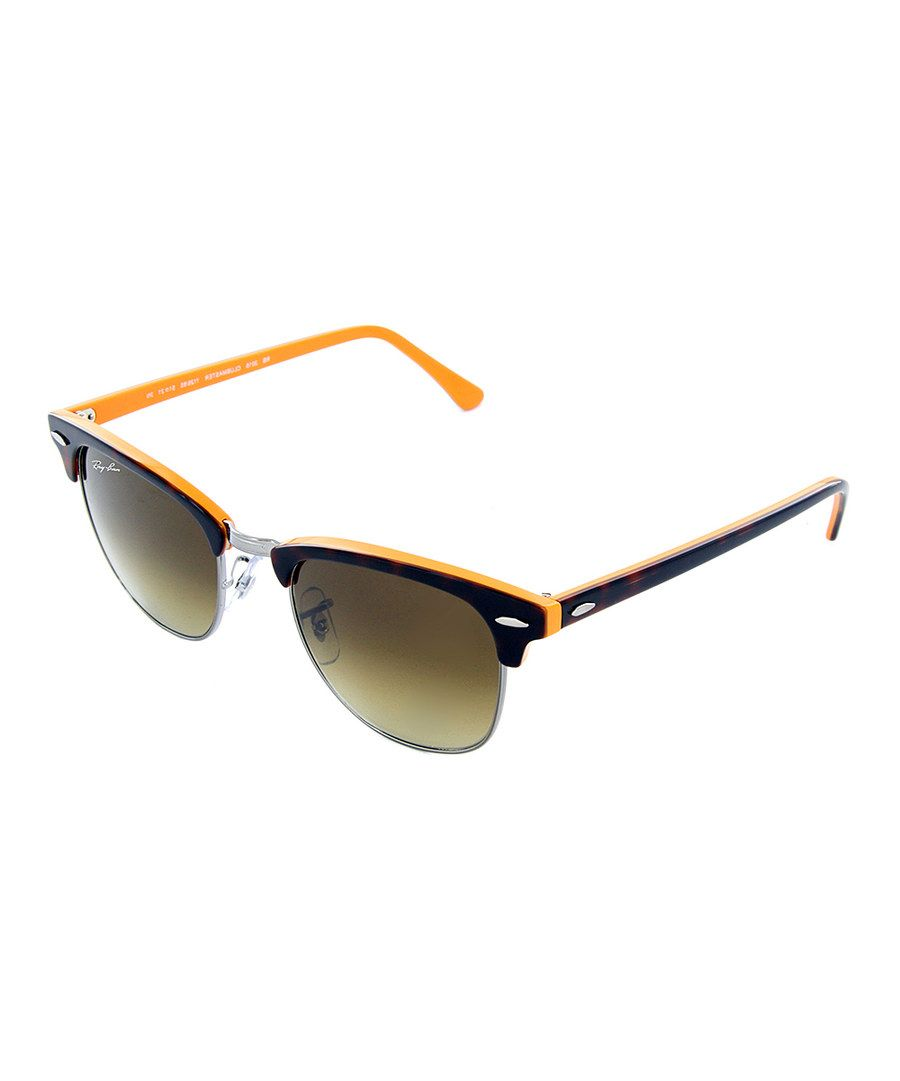 Look at this Orange & Brown Tortoise Clubmaster Sunglasses on #zulily today!