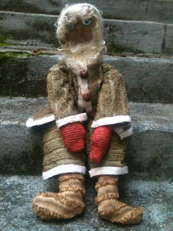 Primitive Santa Wearing Clothes Made From Vintage by TheSimpleFolk, $35.00