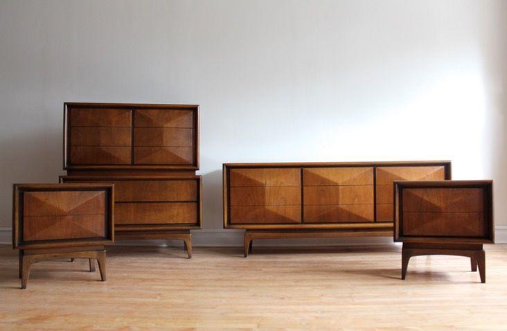 Mid Century Modern Bedroom Set By United Furniture