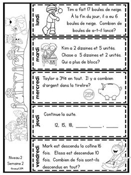 Le Probleme Du Jour Second Grade French Math Word Problem Of The Day January Math Word Problems Word Problems Math Words