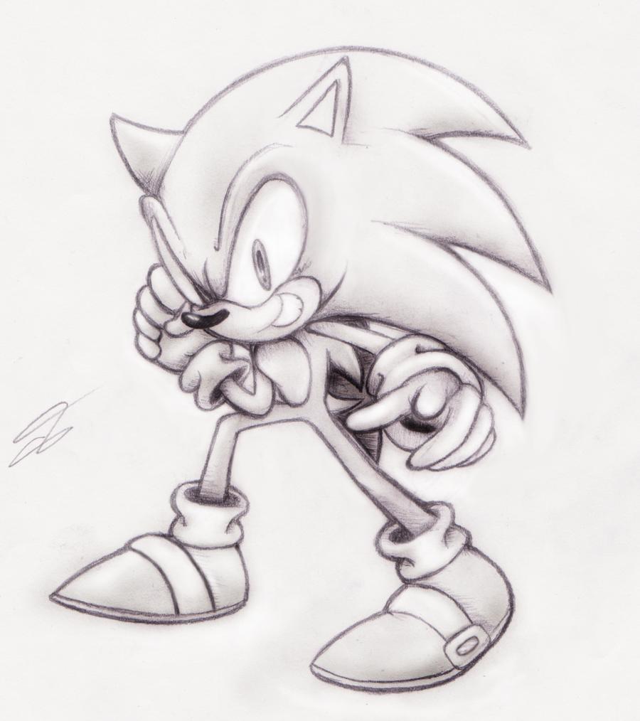 Sonic Pencil Art Cartoon Drawings Cartoon Pencil Sketches