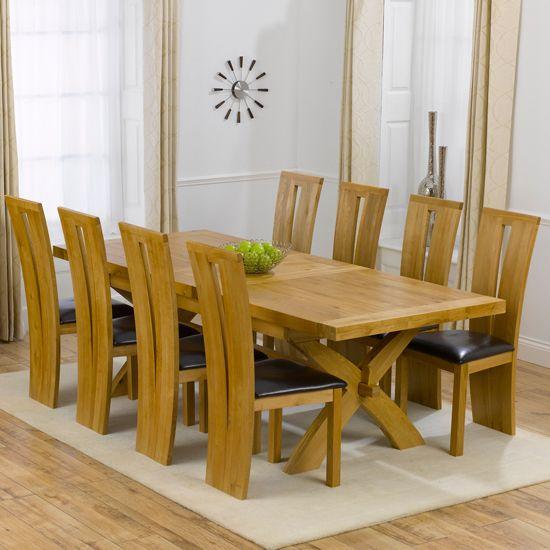 Excellent Avignon Solid Oak Extending Dining Table And 8 Arizona Inzonedesignstudio Interior Chair Design Inzonedesignstudiocom