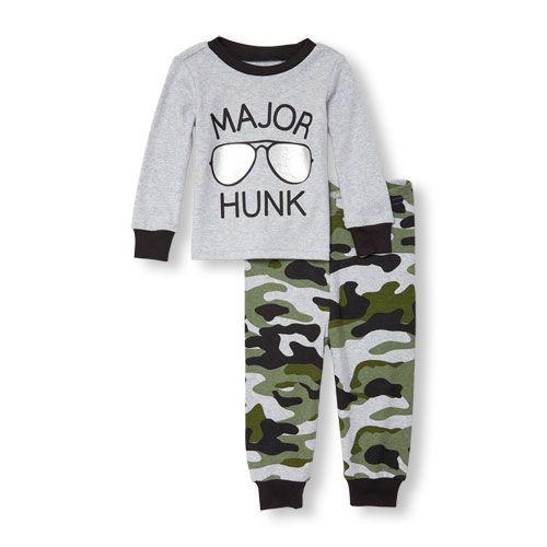 8f3fc3bc4e2e Baby And Toddler Boys Long Sleeve  Major Hunk  Sunnies And Camo ...