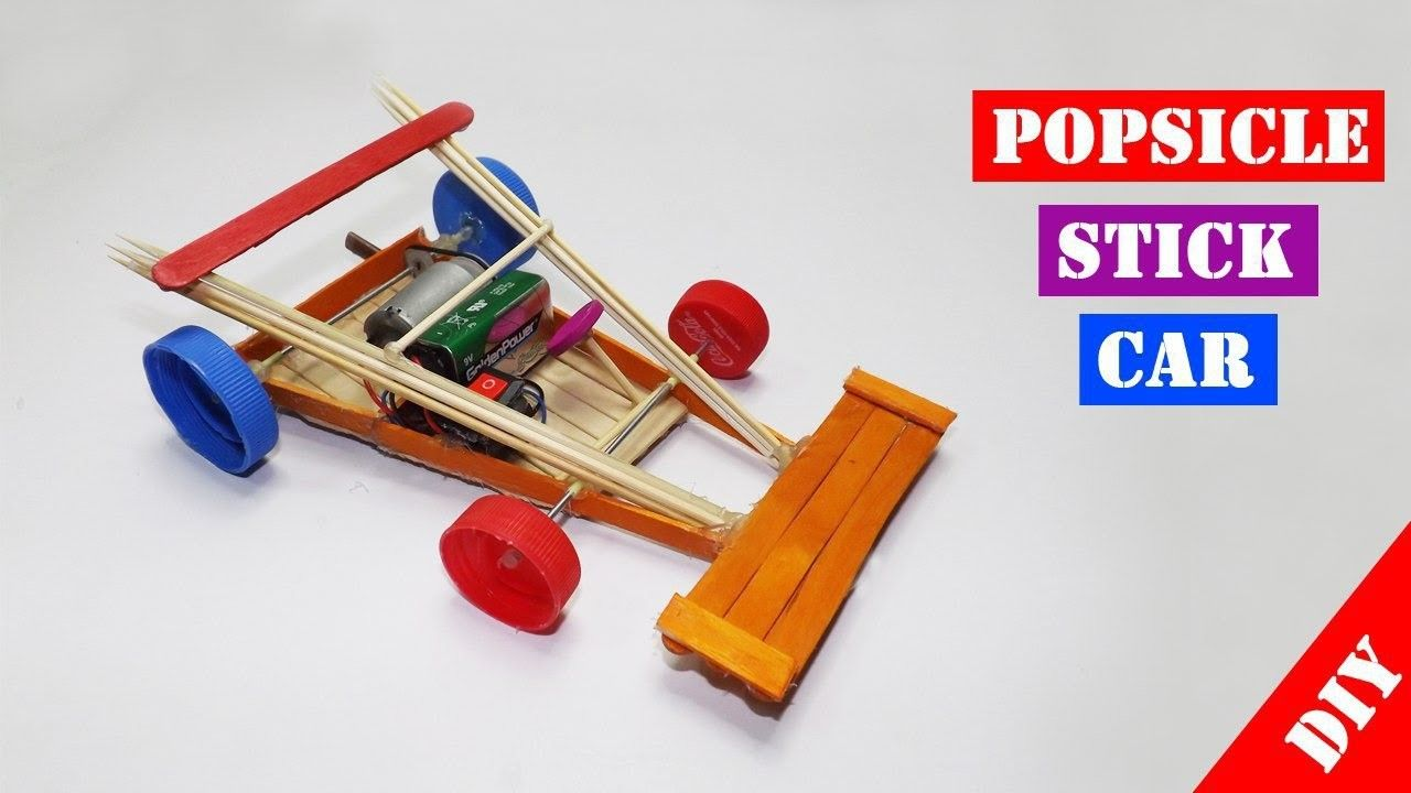 Popsicle Stick RC Car Toy For Kids