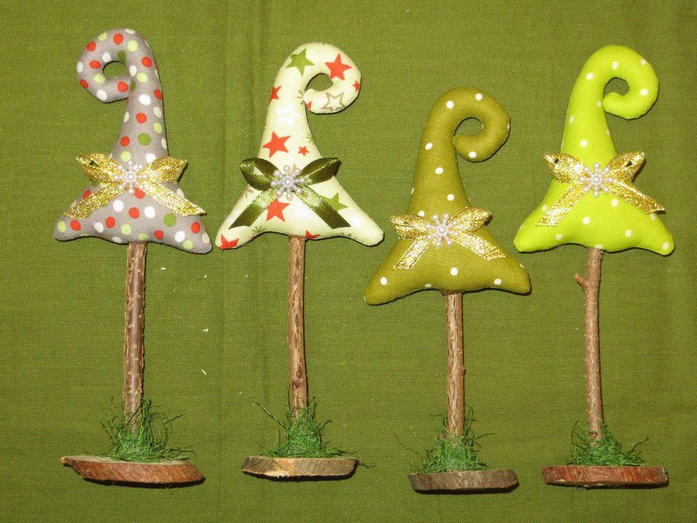 4 st tannenb ume aus stoff weihnachten shabby nostalgie - Pinterest basteln weihnachten ...