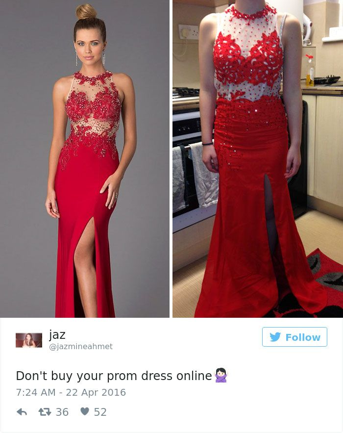 762d0b97559 Teens Are Sharing Prom Dresses They Regret Buying Online And It s ...