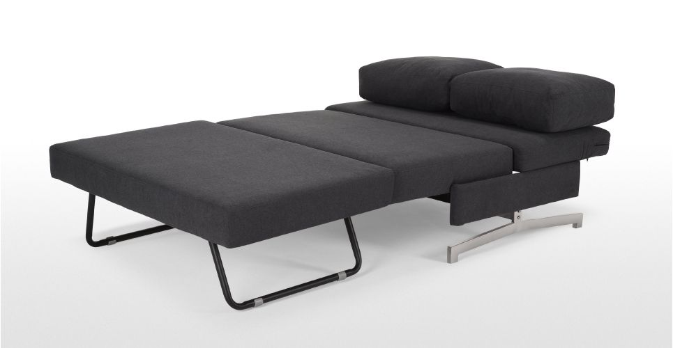 Motti Armless Sofa Bed In Bunting Grey Made Com Sofa Bed Beds