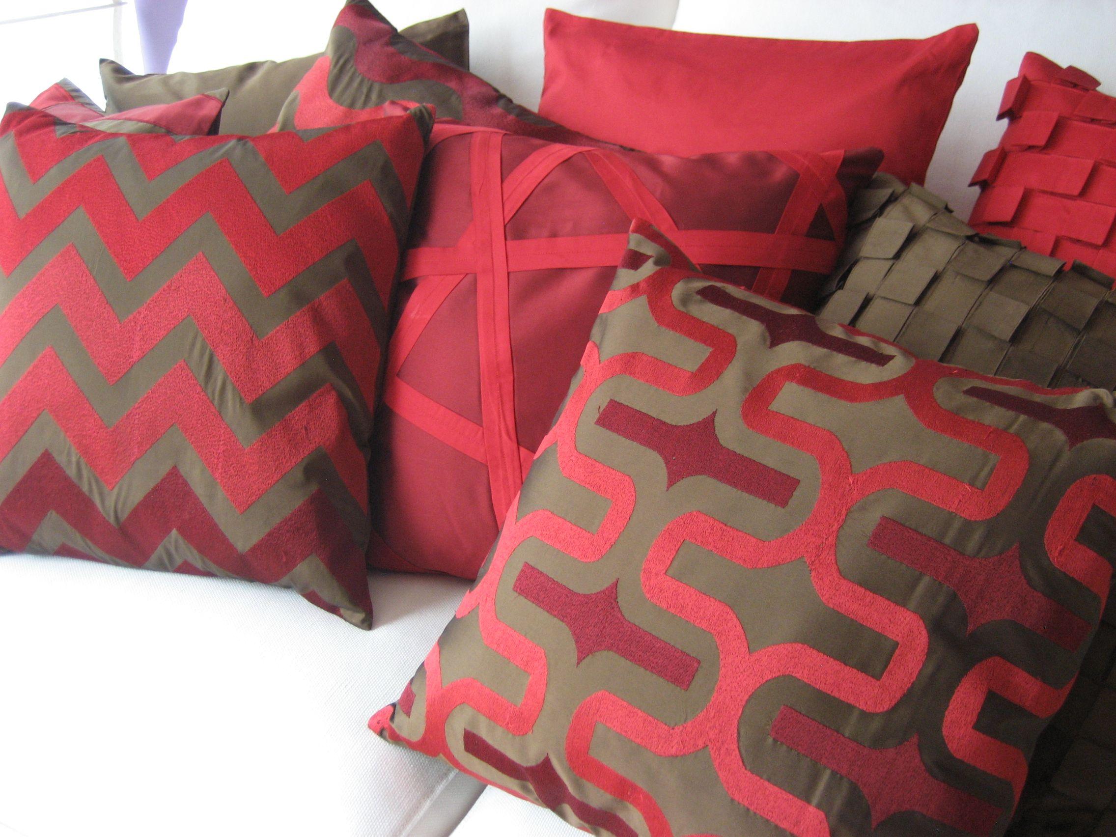 Cojines decorativos rojos decoraci n para el hogar compra - Decoracion online hogar ...