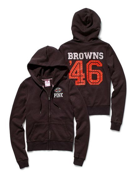 38adcc27 VS Cleveland Browns Bling Zip Hoodie $68 | I would LOVE.... | Brown ...