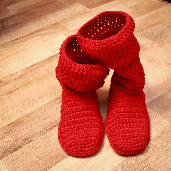 Crochet Slipper Pattern - Mamachee Boots (Adult Women Sizes ...