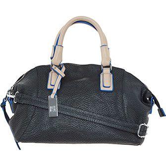 Black Cream Handbag