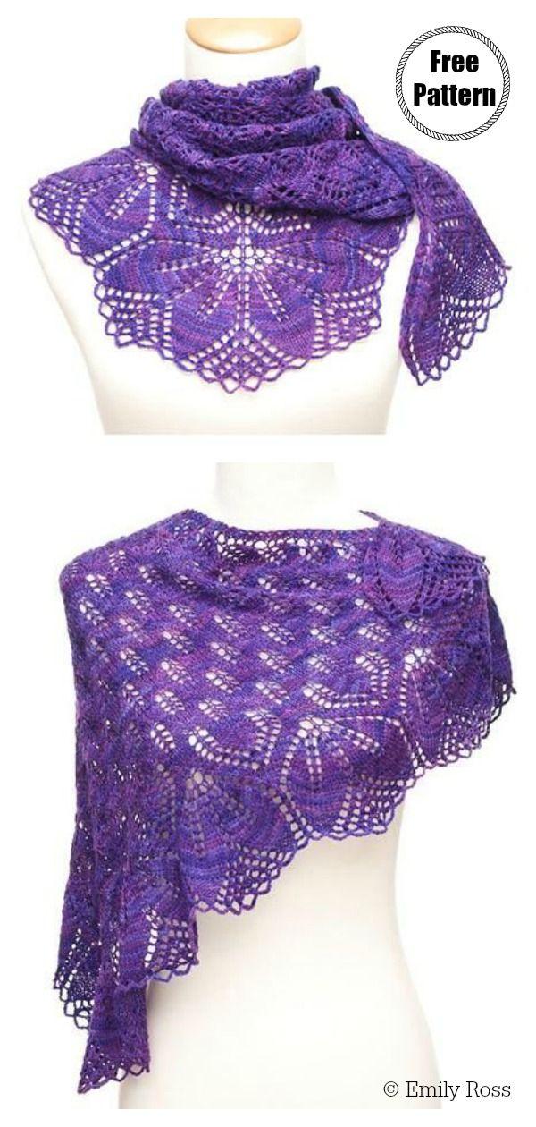 Photo of Haruni Lace Shawl Free Knitting Pattern