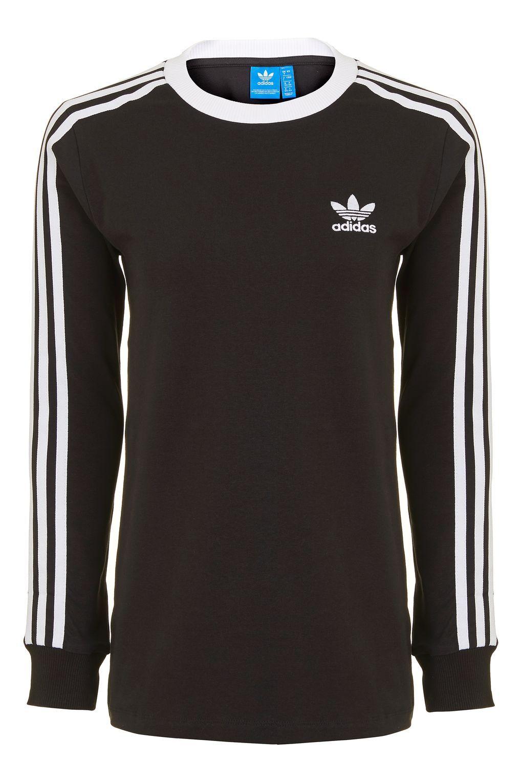 0d1ced8e1267 3 Stripe Long Sleeve T-Shirt by Adidas Originals - Topshop Europe