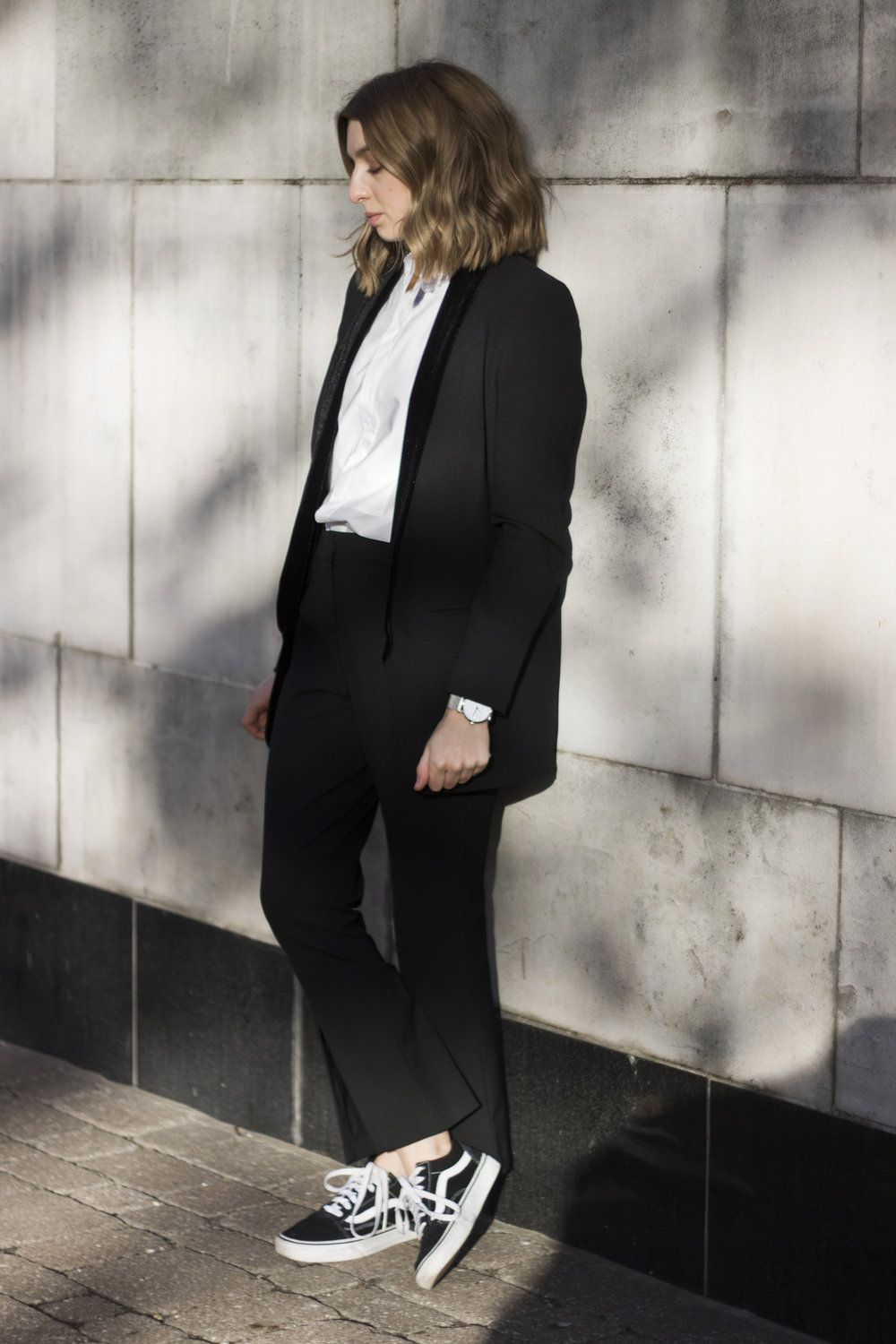 Black Suit White Shirt Vans Styleminimalism