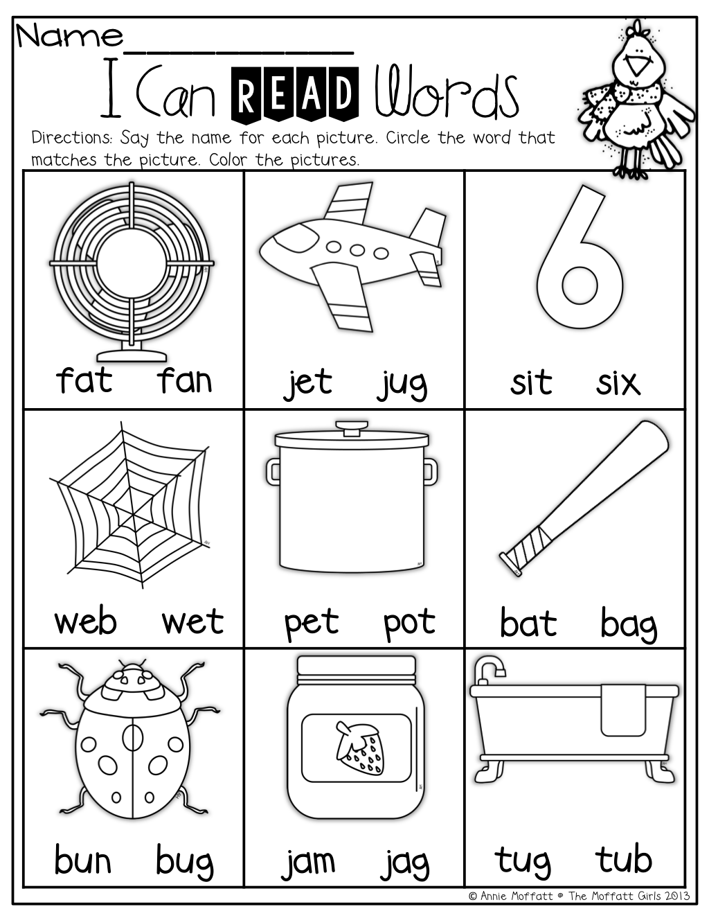 I Can Read Words Word Family Kindergarten Worksheets Preschool Phonics Kindergarten Kindergarten Reading Kindergarten Phonics Worksheets [ 1325 x 1024 Pixel ]