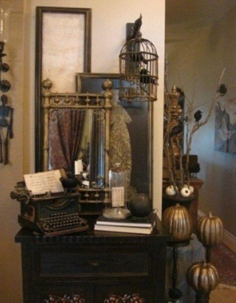 Steampunk halloween home decor
