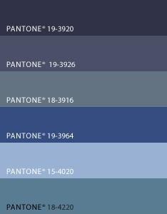 Pantone Blue Colors Denim Color Amp Trim In 2019