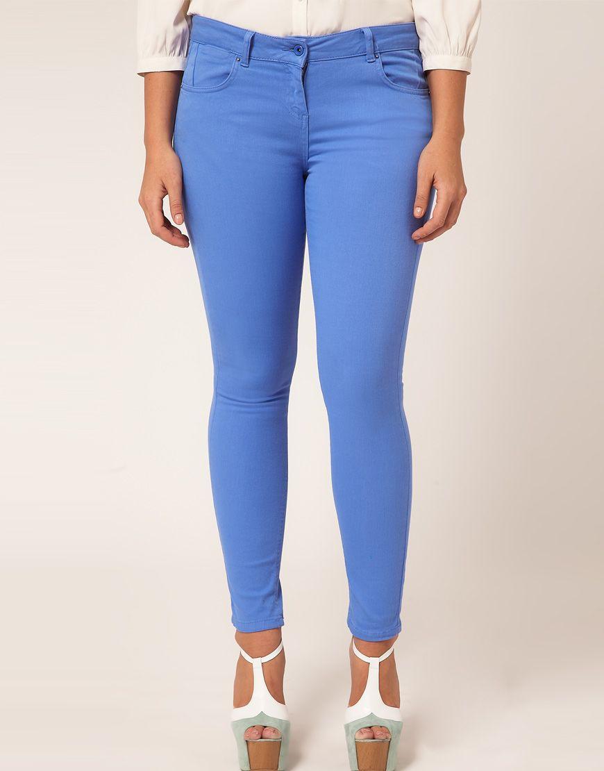 ASOS CURVE Cornflower Blue Skinny Jeans #4