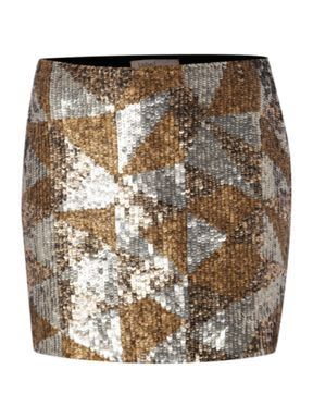 Label Lab All over sequin patch skirt Gold House of