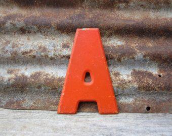orange vintage letter a sign - Google Search